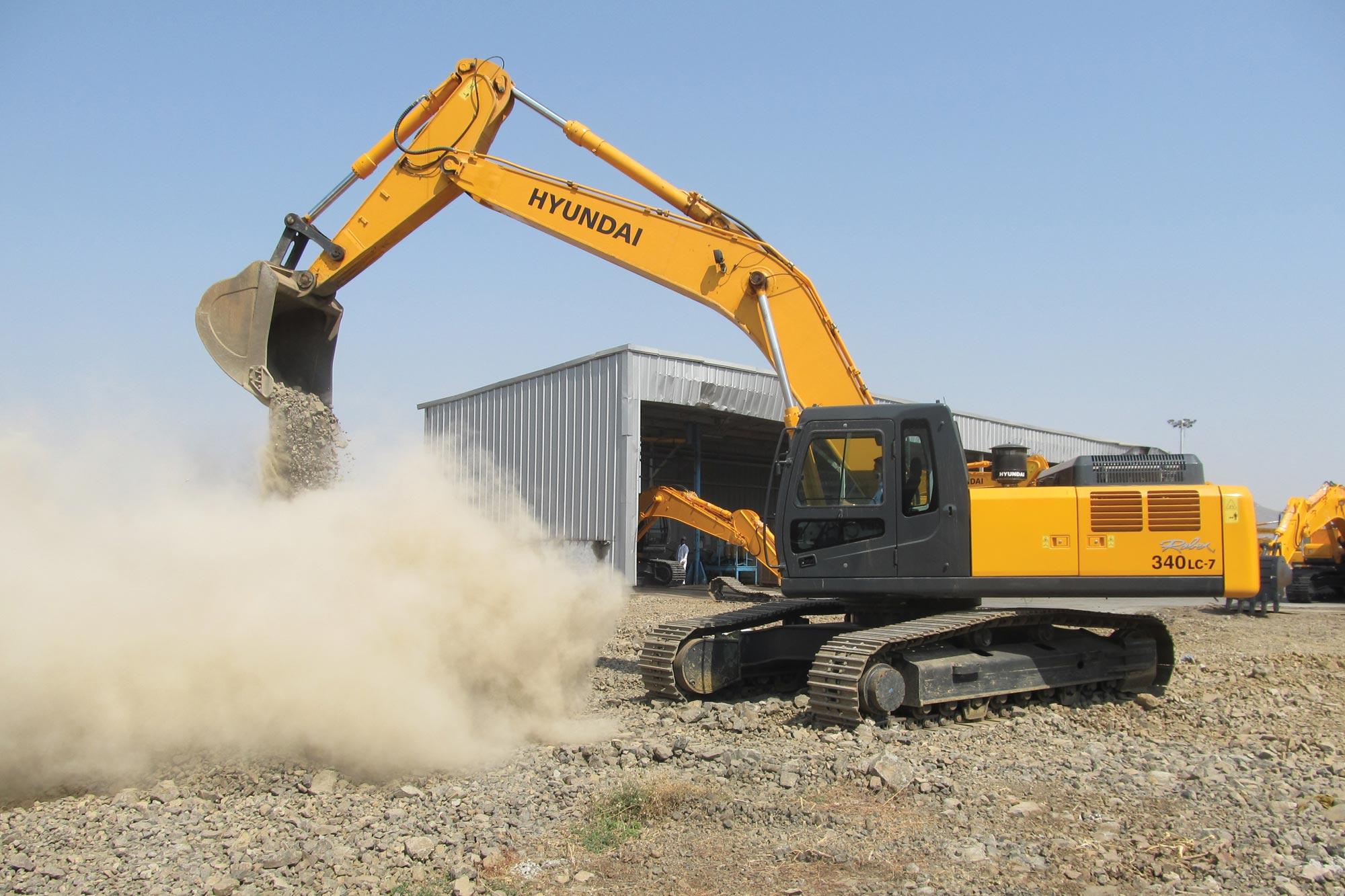 Hyundai's exquisite range of excavators