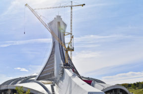Montréal Olympic Stadium hosting highest tower crane in Canada