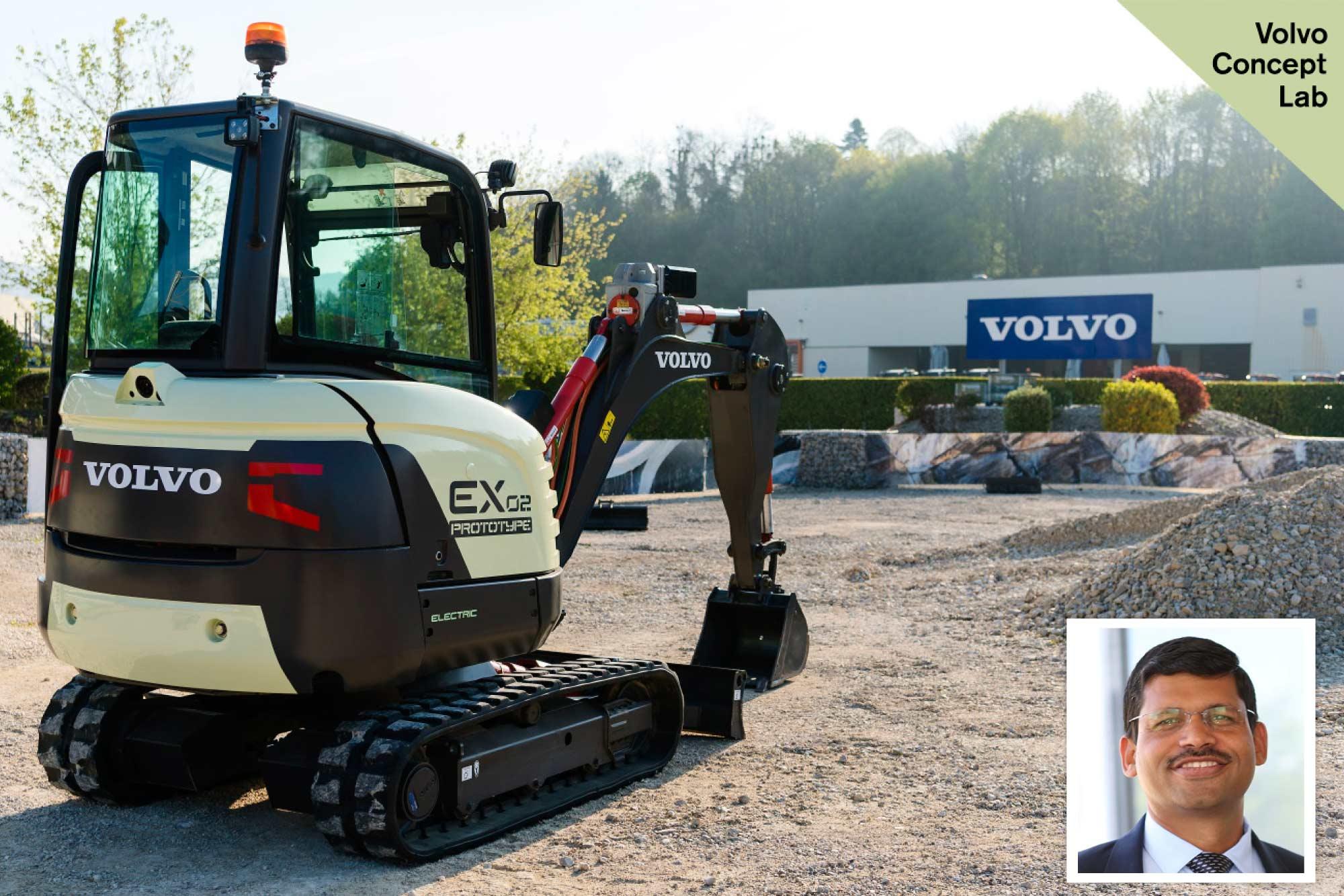 Volvo CE develops prototype excavator running on electricity