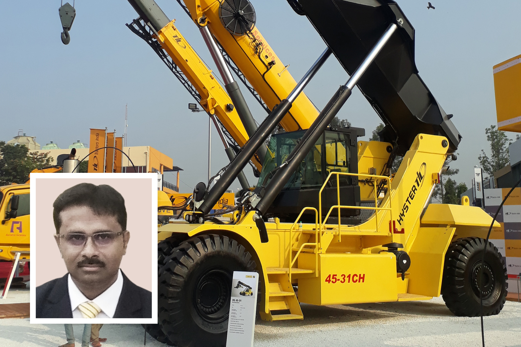 TIL launches long boom cranes & new reach stacker at EXCON 2017