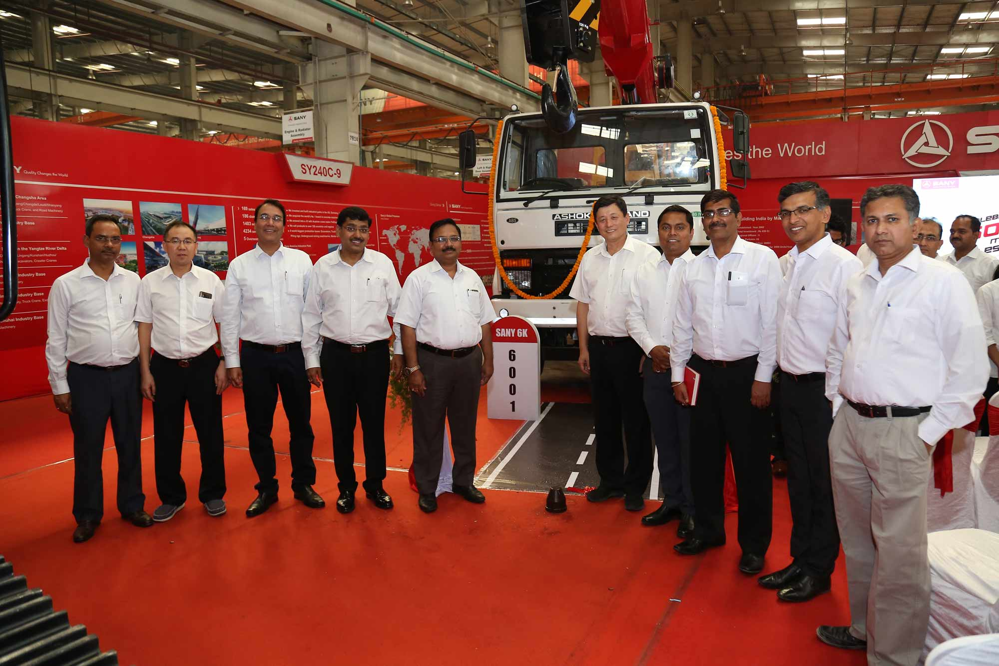 SANY rolls out 6000th machine from Chakan plant