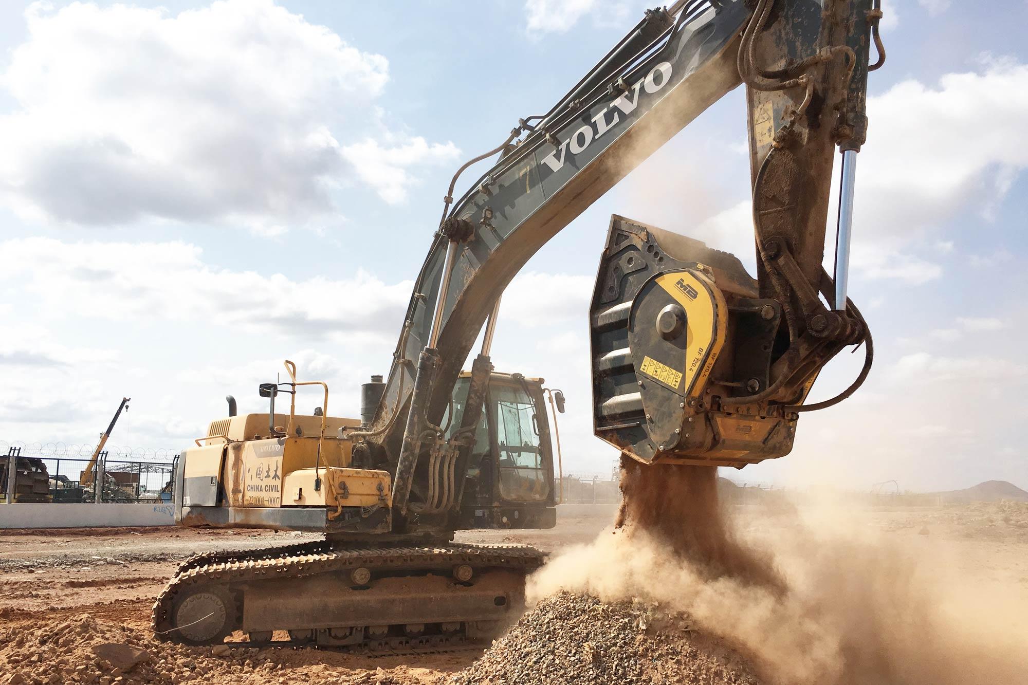 Crushing basalt with MB Crusher in Djibouti