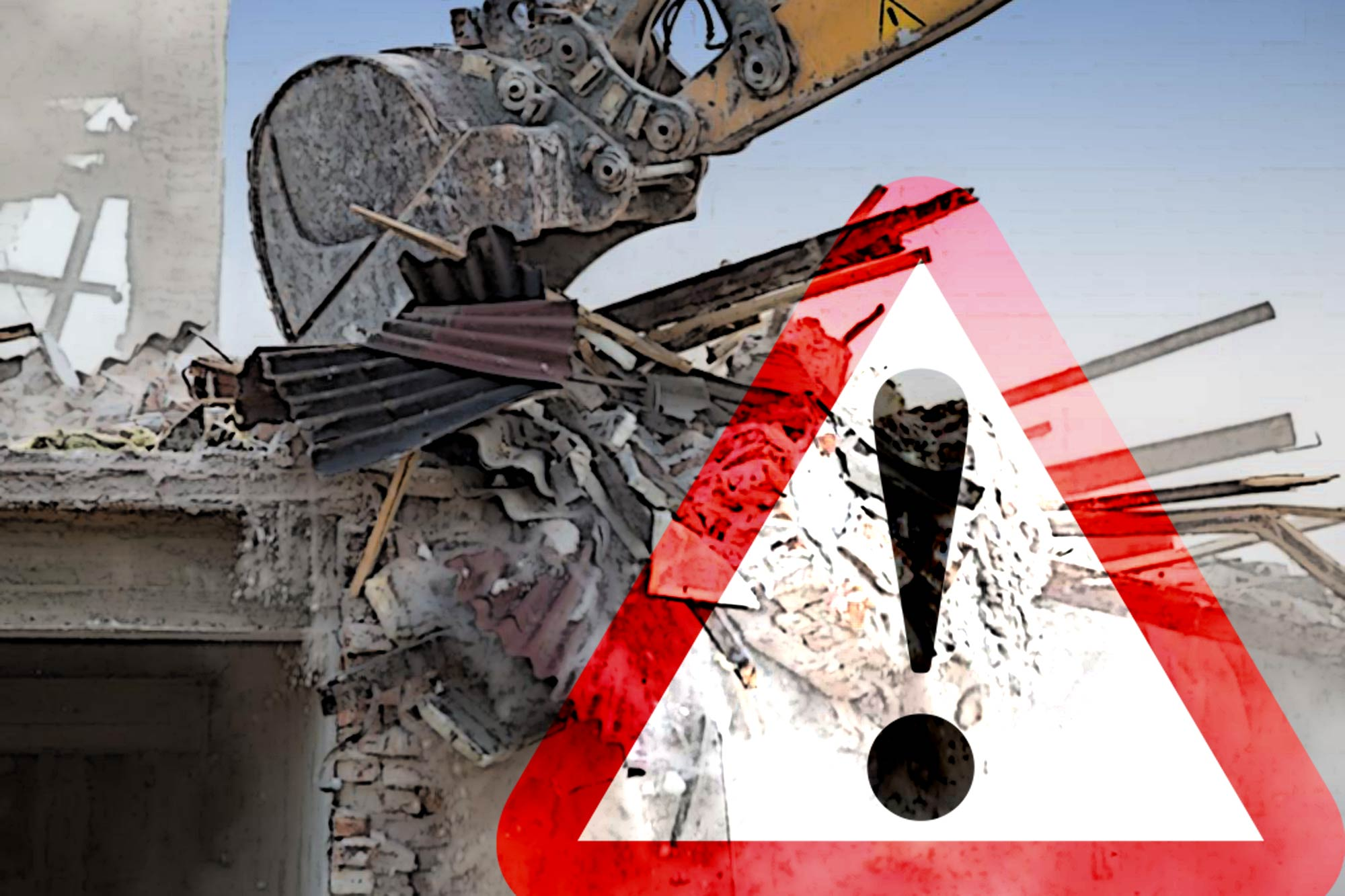Guard against demolition dangers