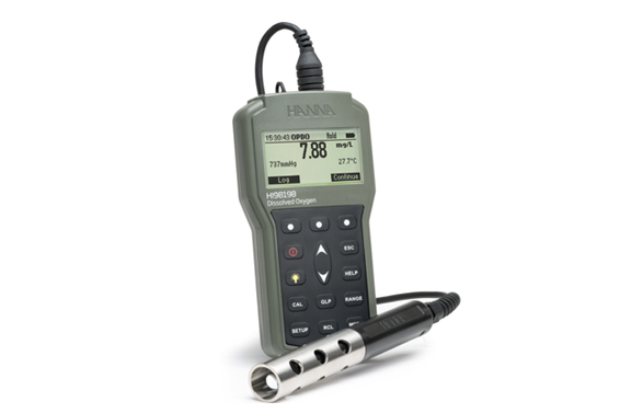 HI98198 measures dissolved oxygen in water and wastewater