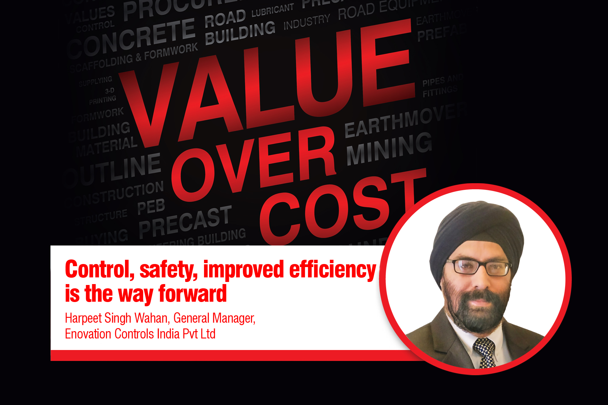 Control, safety, improved efficiency is the way forward