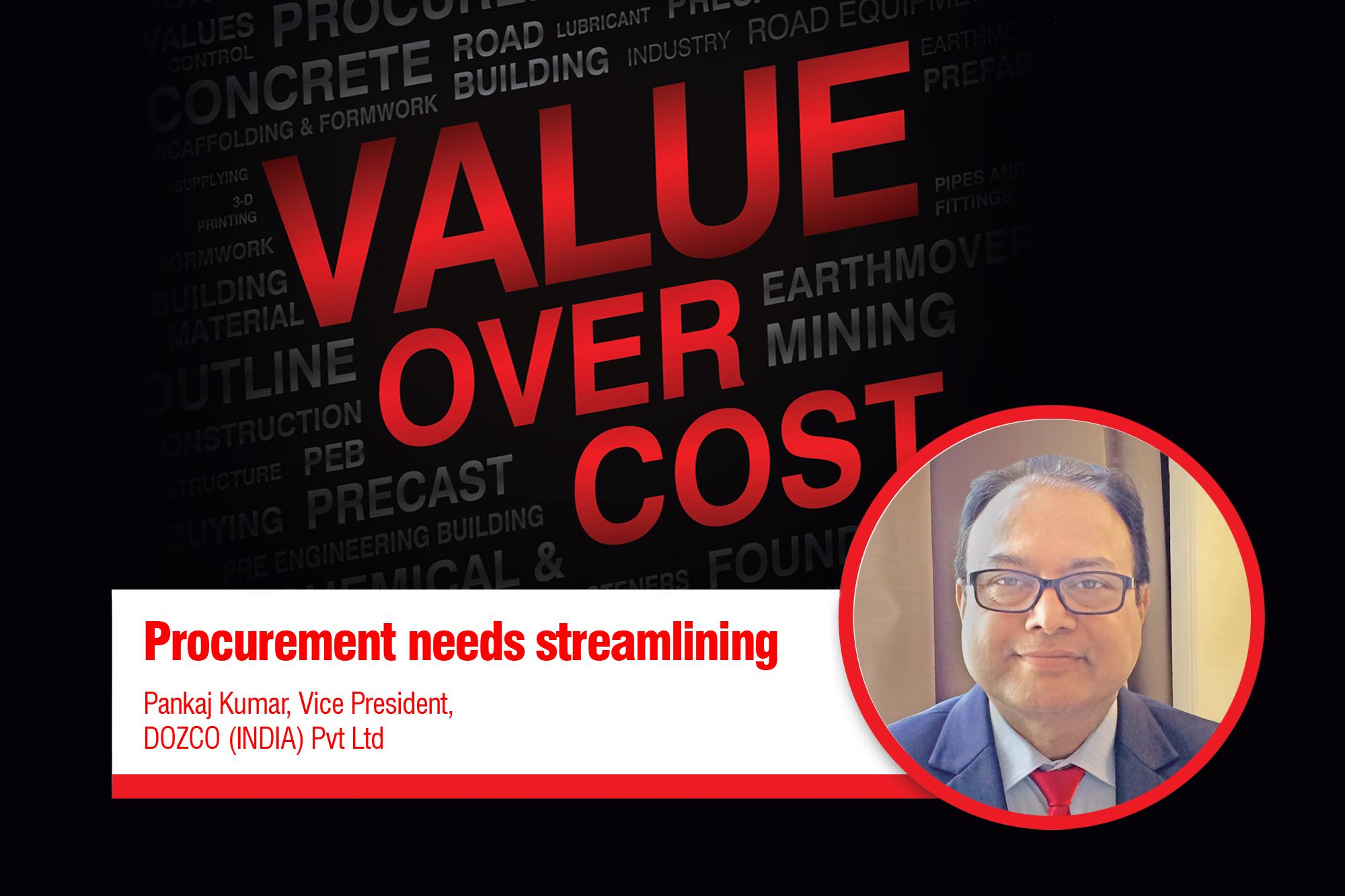 Procurement needs  streamlining
