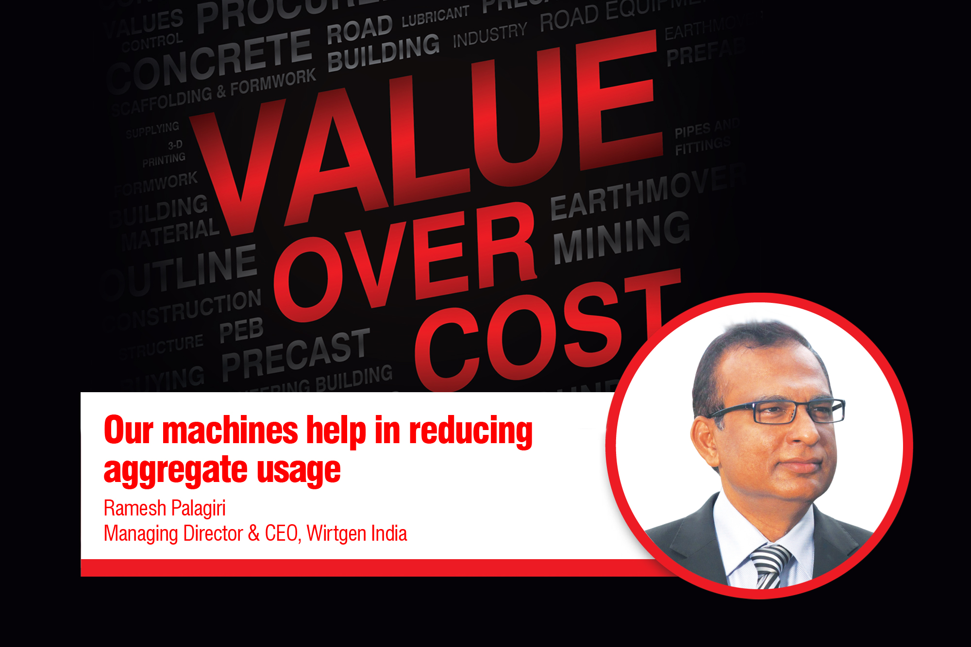 Our machines help in reducing aggregate usage