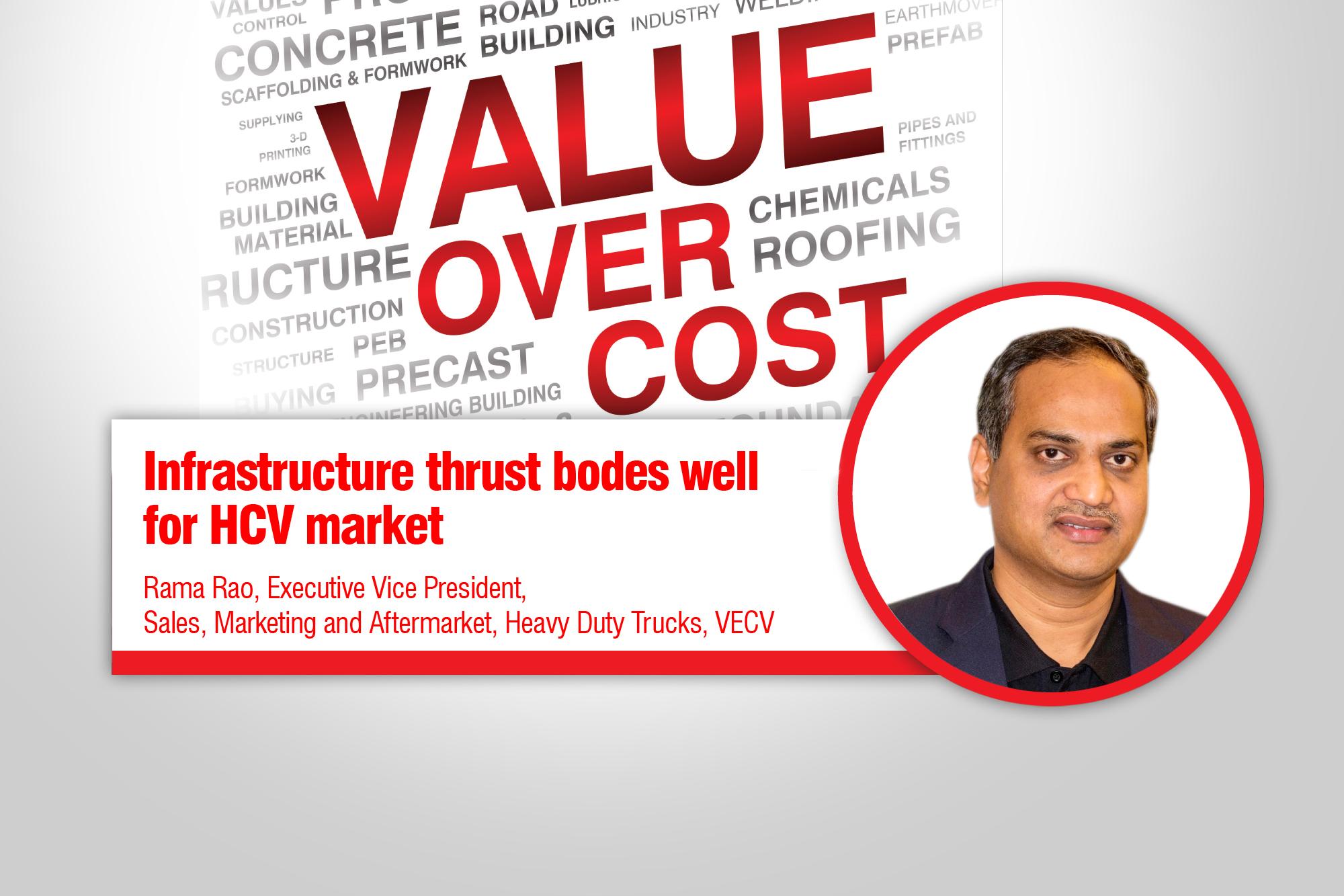 Infrastructure thrust bodes well for HCV market