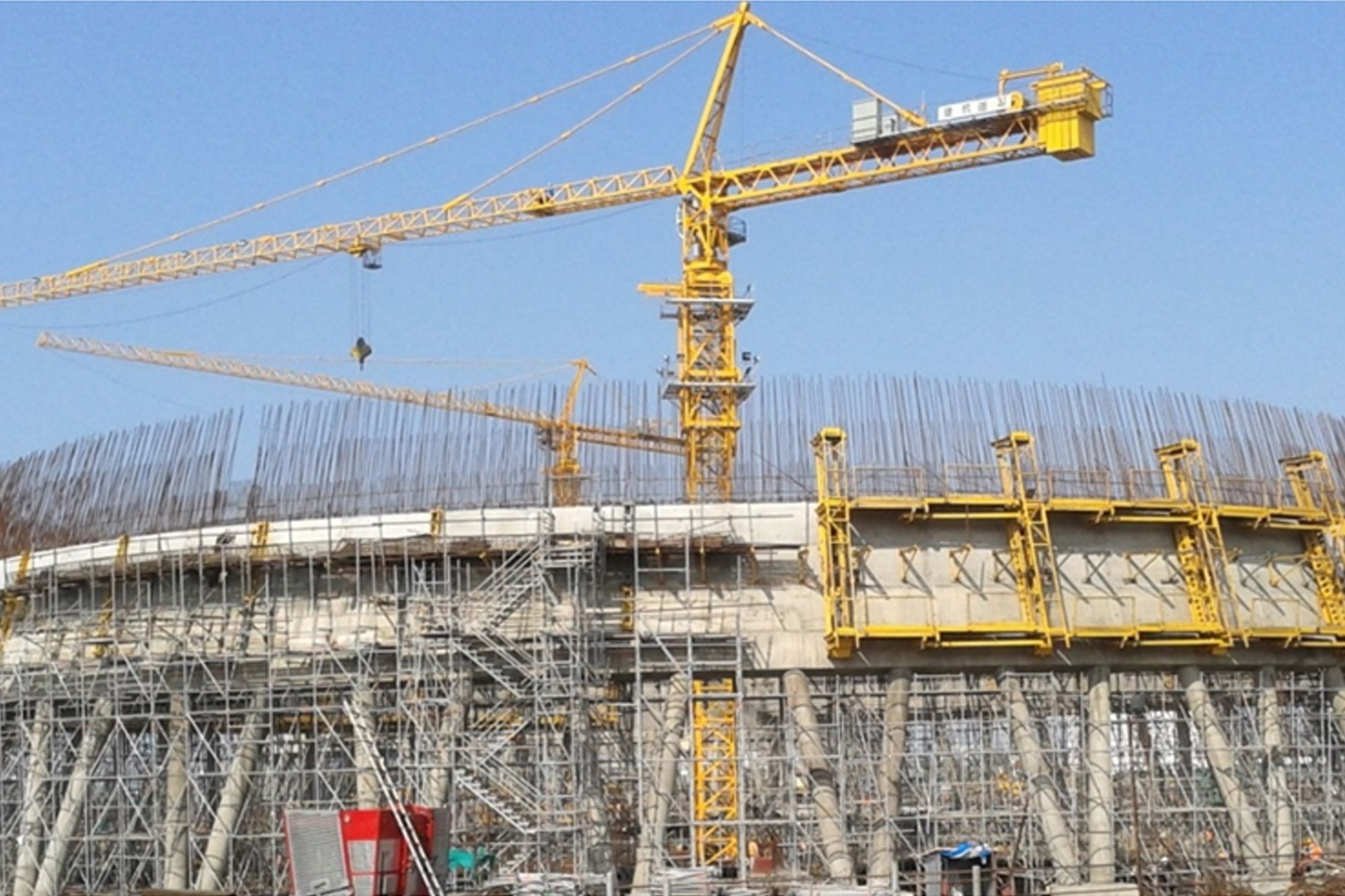 Layher Allround Scaffolding ideal for construction of cooling tower